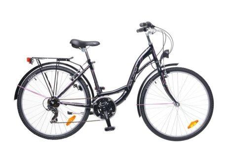 """Neuzer Venezia 30 26"""" női City kerékpár - fekete - pink"""