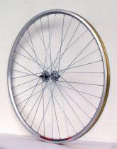 """Fűzött kerék első 26"""" duplafalú ezüst alu abroncs - alu ipari csapágyas agy 559x19"""