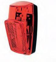 Lámpa hátsó elemes sárvédőre 1 ledes piros