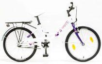 Csepel-Hawaii-gyerek-bicikli-Feher-Lila-Csillagos
