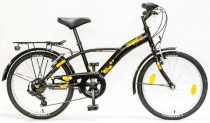 Csepel-gyerek-bicikli-Mustang-6SP-20-Fekete-Naranc