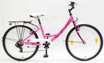 Csepel-gyerek-bicikli-Flora-17-6SP-24-Rozsa