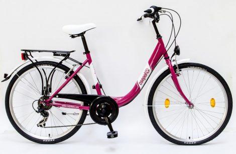 Csepel-Budapest-B-26-7sp-Pink-Noi-bicikli