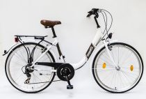 Csepel-Budapest-B-28-7sp-bicikli-Feher-Noi
