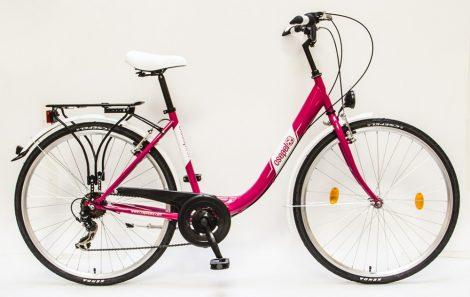 Csepel-Budapest-B-28-7sp-Noi-bicikli-Pink