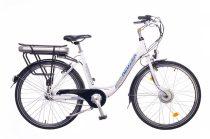 Neuzer E-Trekking női Elektromos kerékpár - fehér/ezüst-kék 18 - 26