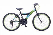 Neuzer-Maxl-fiu-bicikli-fekete/neonzold-24-18s