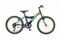 Neuzer-Max-fiu-bicikli-fekete/neonzold-matt-20-6s