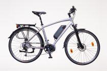 """Neuzer Menton férfi Elektromos kerékpár - ezüst/piros-szürke 20 - 28"""" 9spd"""