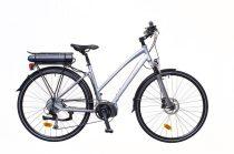 """Neuzer Menton női Elektromos kerékpár - ezüst/piros-szürke 18 - 28"""" 9spd"""
